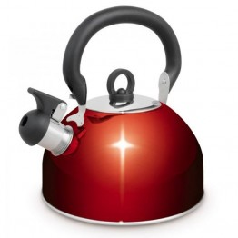 Campfire 4 Litre Whistling Kettle - Red