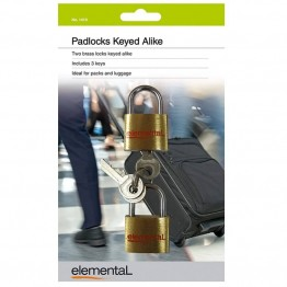 Elemental Padlock x2 - Keyed Alike