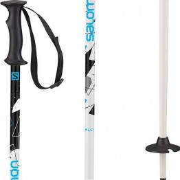 Salomon Kaloo Ski Poles - Junior Blue/White