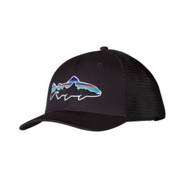 Patagonia Fitz Roy Trout Trucker Hat - Mid Crown - Black