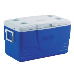 Coleman Cooler 47 Litre with Cup Holder Blue