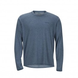 Marmot Saxon Long Sleeve Men's Top - Storm Cloud Heather