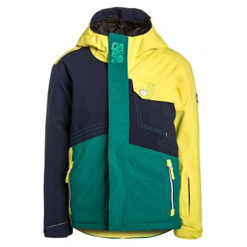 Dare2B Kid's Rouse Up Ski Jacket - Green/Yellow