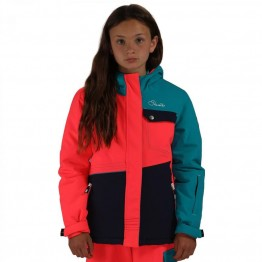 Dare2B Craze Kid's Ski Jacket - Pink/Blue