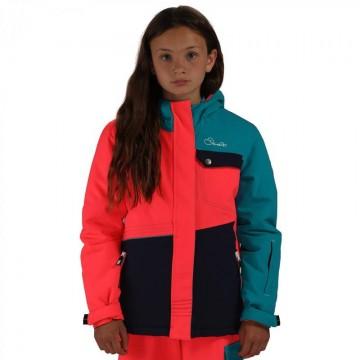 Dare2B Craze Kid's Ski Jacket - Pink/Blue