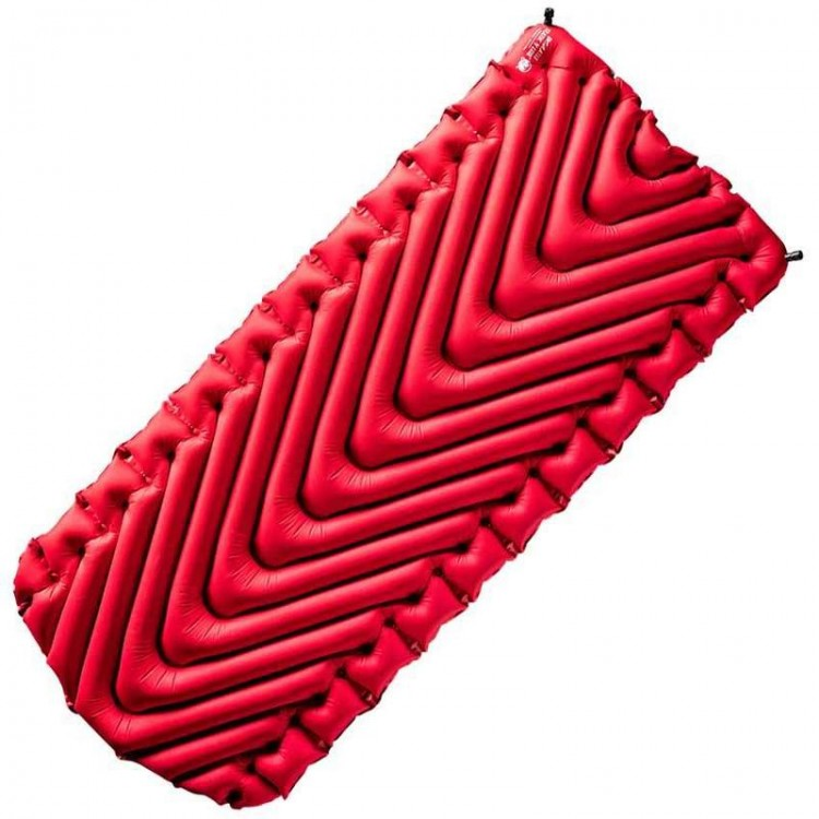 Klymit Insulated Static V Luxe Inflatable Sleeping Mat Red