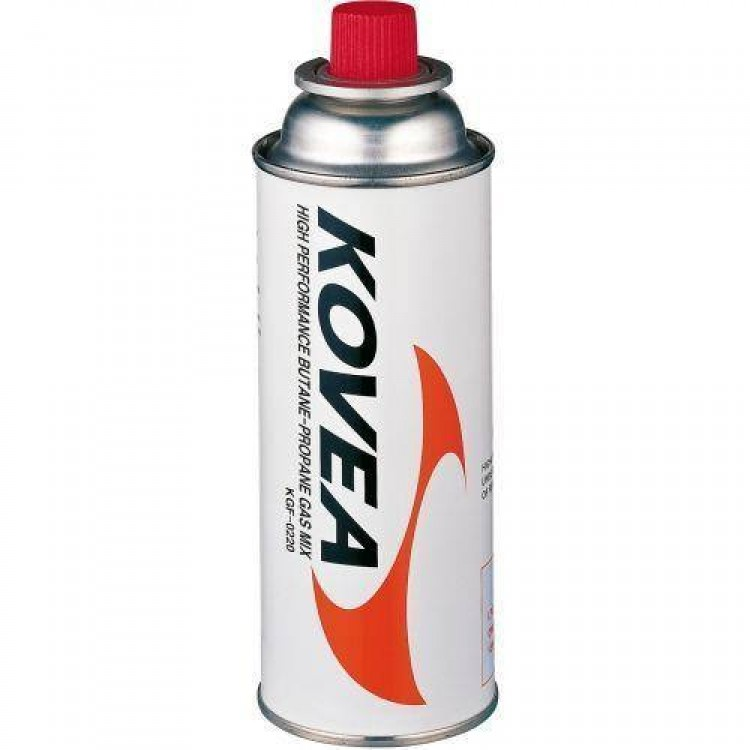 Kovea Gas - 220g Iso-Butane Canister Cylinder - Complete