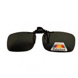 Optica Flip-Ups - Rectangle Small Smoke for Prescription Glasses