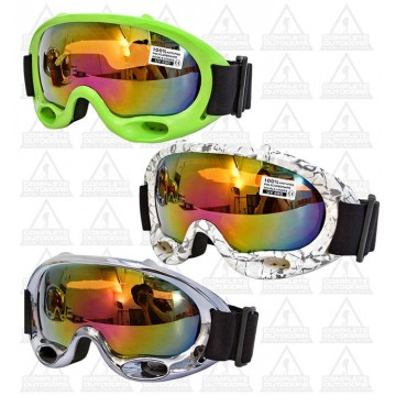 c2f84d2bc6a MW Goggles Adult G1476 Double Lens - Chrome Silver (Electric Purple)