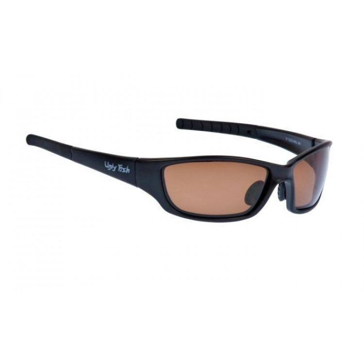 c73fbdd883 Ugly Fish Glasses Matte Black Frame Sunglasses - Brown Polarised ...