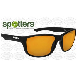 "Spotters ""Rebel"" Black Matte Sunglasses & Polarised Gold Lens"