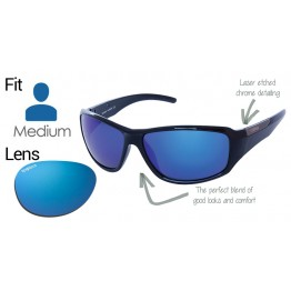 "Spotters ""Vector Ice"" Medium Fit Fishing Glasses - Ice Blue Mirror Lens"