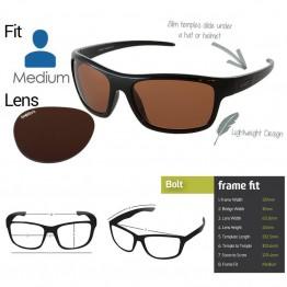 "Spotters ""Bolt"" Black Gloss Sunglasses & Polarised Columbia Resin Copper Lens"