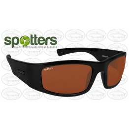 "Spotters ""Coyote+"" Black Gloss Sunglasses & Polarised Photocromatic Penetrator Lens"