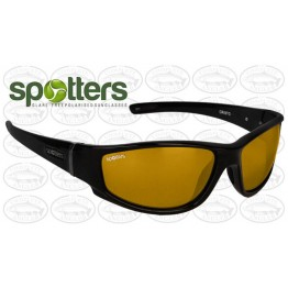 "Spotters ""Cristo"" Black Gloss Sunglasses & Polarised Gold Lens"