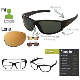 "Spotters ""Cristo"" Black Gloss Sunglasses & Polarised Gold Lens"