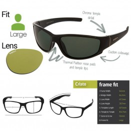 "Spotters ""Cristo"" Black Gloss Sunglasses & Xtreme Polarised Yellow Lens"