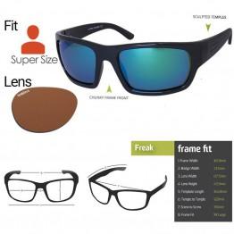 """Spotters """"Freak"""" Black Gloss Sunglasses & Polarised Photochromic Penetrator Lens"""
