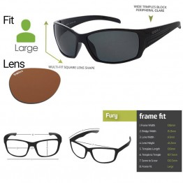 "Spotters ""Fury"" Black Gloss Sunglasses & Polarised Photocromatic Penetrator Lens"