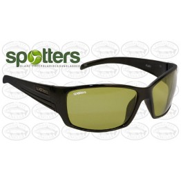 "Spotters ""Fury"" Black Gloss Sunglasses & Polarised Gold Leaf Mirror Lens"