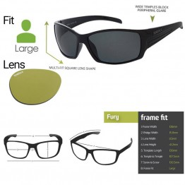 "Spotters ""Fury"" Black Gloss & Polarised Photochromic Xtreme Yellow Lens"