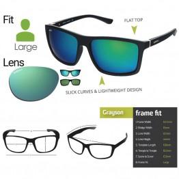 "Spotters ""Grayson"" Black Matt Sunglasses & Polarised Nexus Lens"