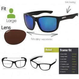 """Spotters """"Rebel"""" Black Matte Sunglasses & Polarised Photochromic Halide Lens"""