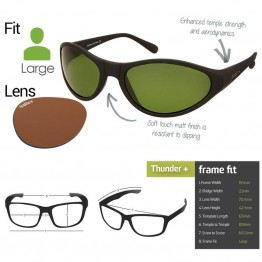 """Spotters """"Thunder+"""" Black Sunglasses & Polarised Photochromic Penetrator Lens"""