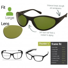 "Spotters ""Thunder+"" Black Matte Sunglasses & Xtreme Yellow Lens"
