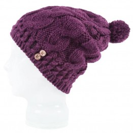 Spacecraft Beanie - Juniper Pom Purple
