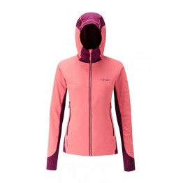 Rab Women's Alpha Flux Jacket - Coral