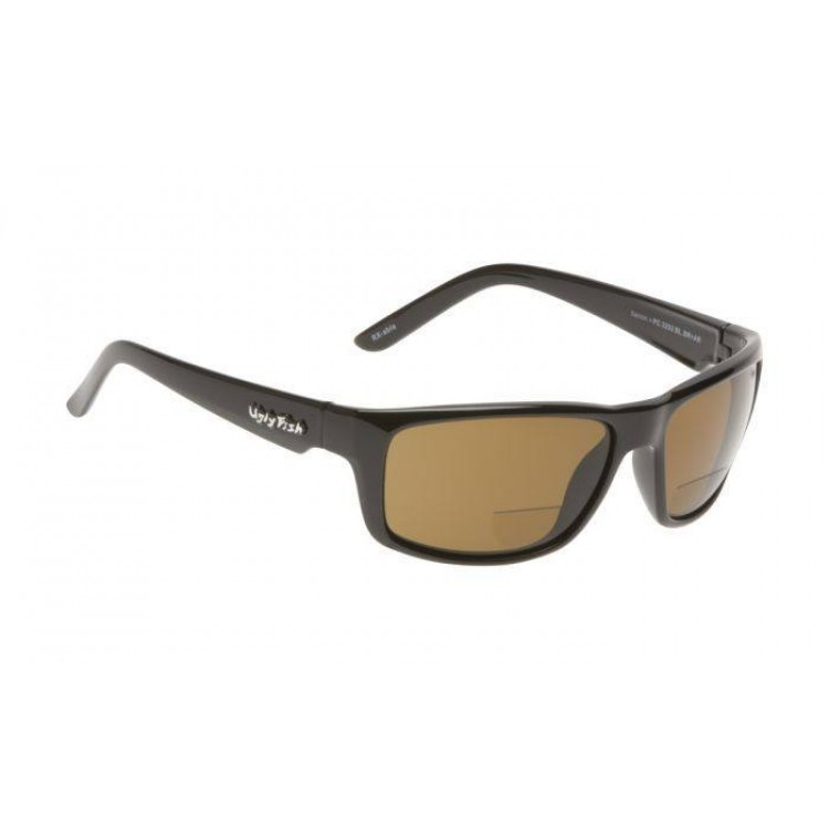 0ad24a174588 Buy Ugly Fish Xenon Shiny Black Bifocal Sunglasses - Brown Polarised Lens + 1.50 - Complete Outdoors NZ