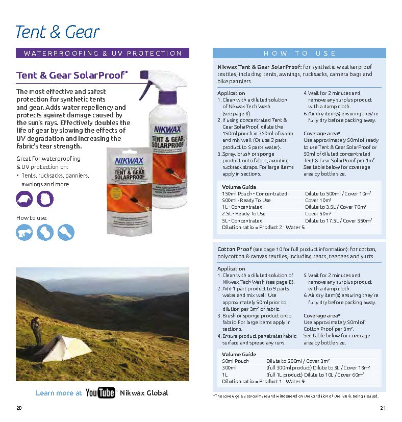 Whether itu0027s waterproofing a tent or protecting you new snazzy suede shoes. The images below will help you with all your Nikwax after care needs.  sc 1 st  Complete Outdoors & Nikwax Buyers Guide u0026 How To - Complete Outdoors